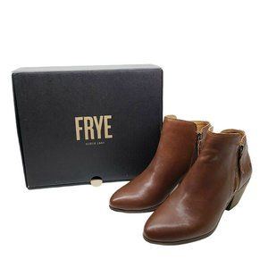 Frye Judith Ankle Boots Brown Leather Ankle Boots